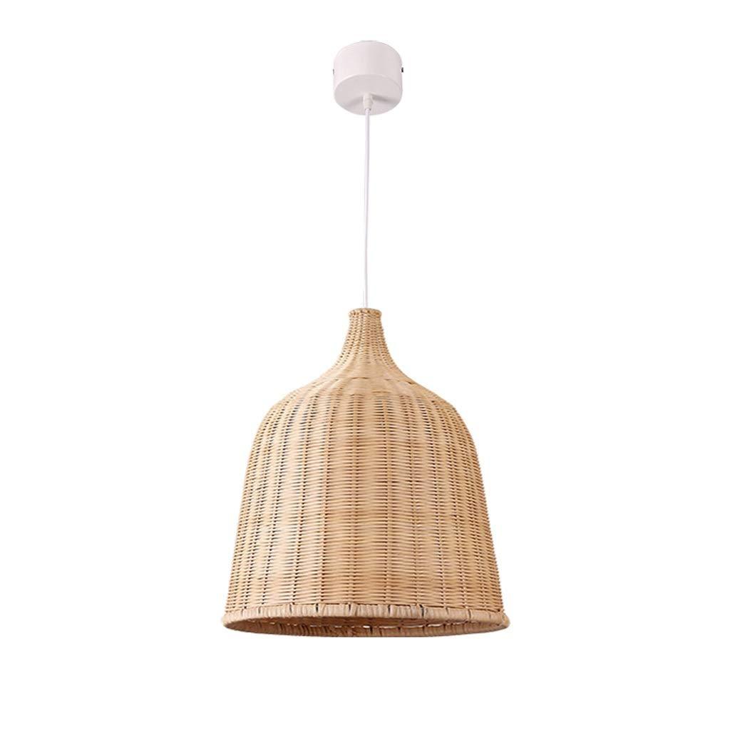 B JTYP Lustre Pendentif Plafonnier Lampe Tissé à La Main Pendentif Lumière Art Salle à Manger Chambre Rustique Suspension (Taille   B)