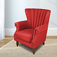 Magshion Elegant Design Fabric Tufted Club Chair Accent Chairs (Red)