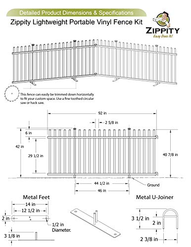 Zippity Outdoor Products Zp19026 Lightweight Portable