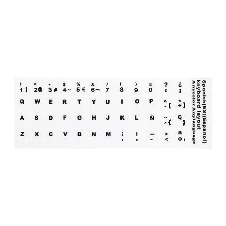 Docooler Adhesivo de repuesto para teclado con letras grandes, no transparente, universal, para