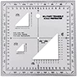 GOTICAL Military UTM/MGRS Coordinate Scale Map Reading and Land Navigation Topographical Map Scale, Protractor and Grid Coordinate Reader Pairs with Compass and Pace Counter Beads by GOTICAL