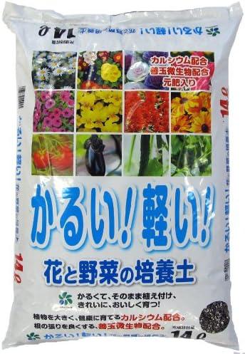 [スポンサー プロダクト]自然応用科学 かるい! 軽い! 花と野菜の培養土 14L