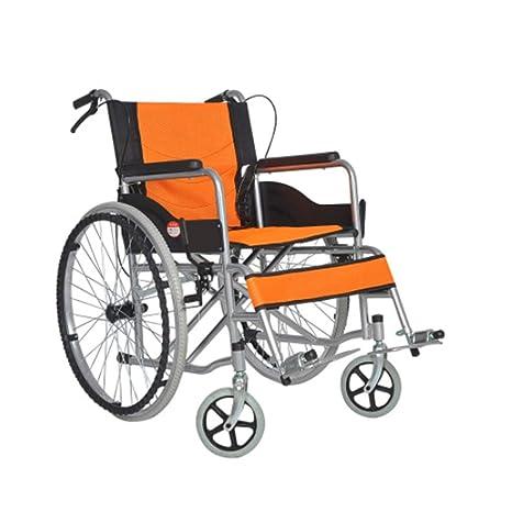 KANGYANLONG Silla de Ruedas Plegable Ligero Portátil Ultra Ligero Viaje Viejo Trolley Inflable Miniatura Envejecido Anciano Deshabilitado,A: Amazon.es: ...