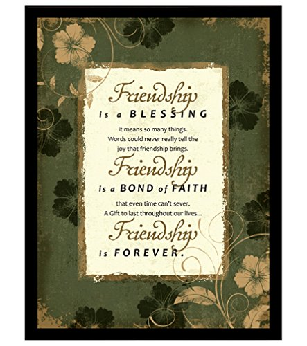 Friendship Wall Plaque - Dexsa Friendship Wood Frame Plaque with Easel