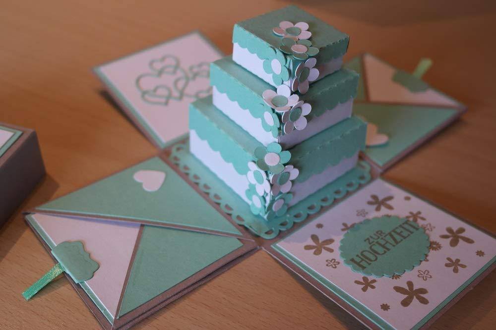Explosionsbox zur Hochzeit mit Torte