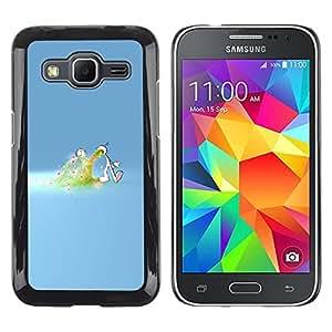 EJOY---Cubierta de la caja de protección la piel dura para el / Samsung Galaxy Core Prime / --Amor desbordamiento
