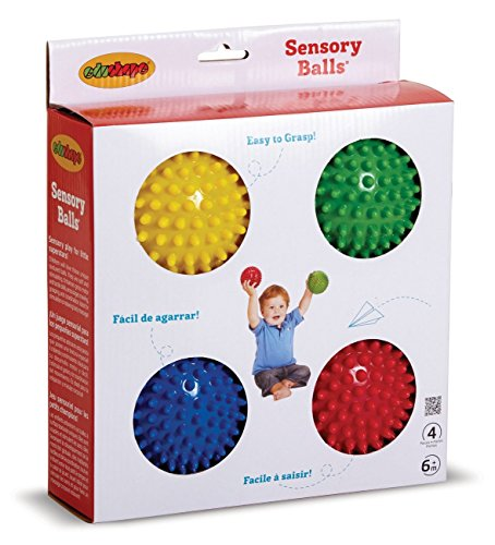 "Edushape 4"" Sensory Balls, Set of 4, Solid"