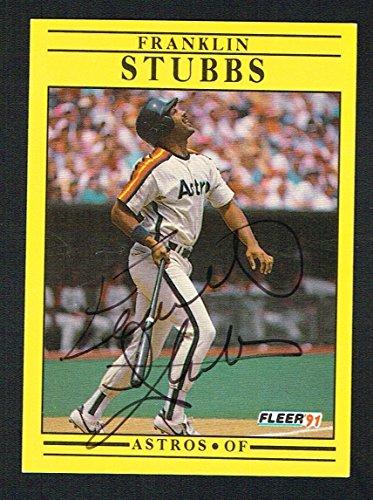 Franklin Stubbs #518 signed autograph auto 1991 Fleer Baseball Trading ()