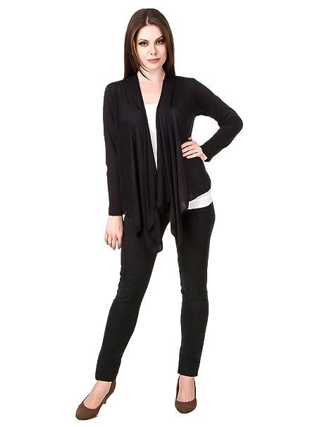 Komal trading co. Women's Cotton Shrug  BLF01_Shrug_Black XL, Black, X Large