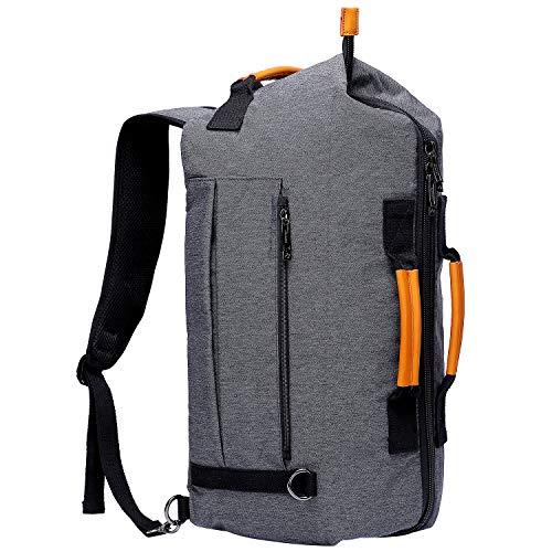 WITZMAN Travel Backpack Laptop Rucksack Multi-Function Design Duffel Bag For Men 6811, Grey