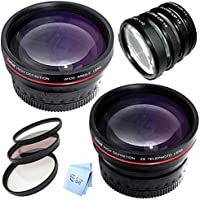 Vivitar Series 1 77MM .43X Wideagnle and 2.5X Telephoto + 7 Piece Filter Set Bundle