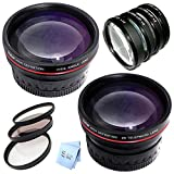 Vivitar Series 1 77MM .43X Wideagnle and 2.5X Telephoto + 7 Piece Filter Set Bundle