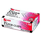 ACCO Paper Clips, Economy, Smooth, #1 Size, 100/Box, 10 Boxes (A7072380) by ACCO Brands