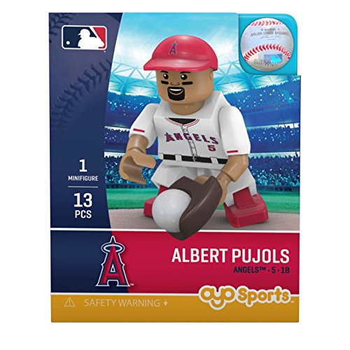 (OYO MLB Los Angeles Angels Gen5 Limited Edition of Anaheim Albert Pujols Minifigure, Small, White)