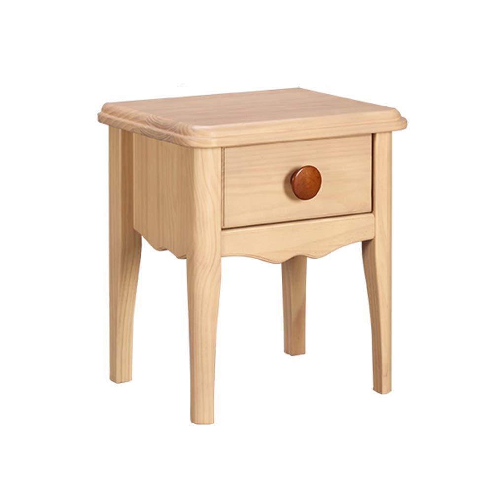 LJHA bianzhuo Nachttisch, Log Farbe Nachttisch Schrankschrank Aus Massivem Holz Nachttisch Schrank Geeignet für Schlafzimmer Wohnzimmer 17.7