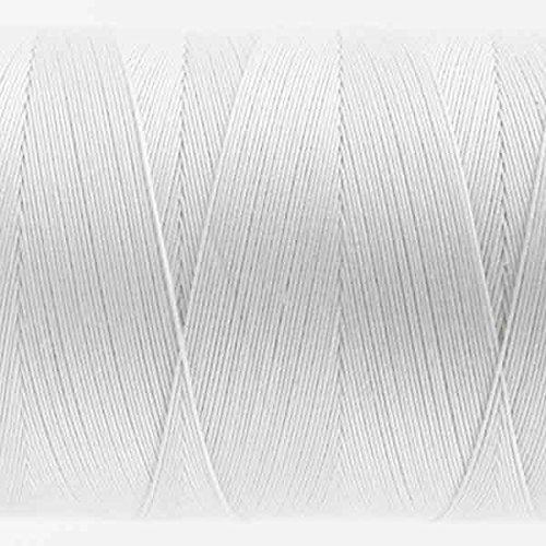 WonderFil Specialty Threads Konfetti Thread White 50wt double gassed Egyptian cotton