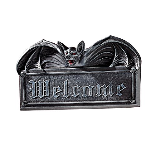 Cheap  Design Toscano Welcome Sign - Vampire Bat Welcome Wall Sculpture - Bat..