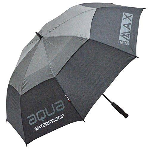 BIG MAX I-Dry Aqua Golf Regenschirm - 100% Wasserundurchlässig (Schwarz)