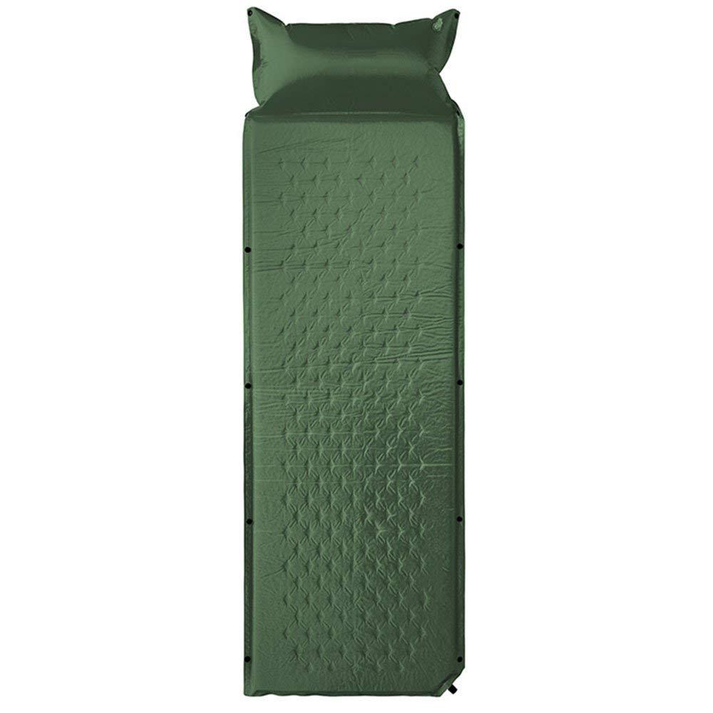 B  Giow Lit Gonflable Simple extérieur de lit Gonflable de lit Gonflable avec Le lit Gonflable de ménage d'oreiller campant Le lit Gonflable résistant à l'humidité (Couleur  A)