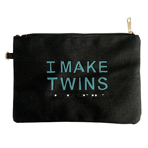 I Make Twins What'S Your Superpower Canvas Zipper Pouch Pencil Bag Cosmetic Bag Travel Organization - Coupon I Sunglasses