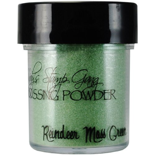 Lindy's Stamp Gang 2-Tone Embossing Powder, 0.5-Ounce Jar, Reindeer Moss Green