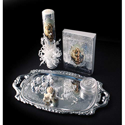 Catholic & Religious Gifts, Presentation Gift Set Silver Spanish