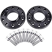 "ZY Wheel 2pcs 20mm (3/4"") Black Hubcentric 5x120 Wheel Spacers (72.6mm bore) with 10pc Silver Lug Bolts (12x1.5) for Many BMWs E36 E46 E90 E92 E60 318i 323i 325i 328i 330i 335i 525i 545i Z3 Z4 Z8 M3"