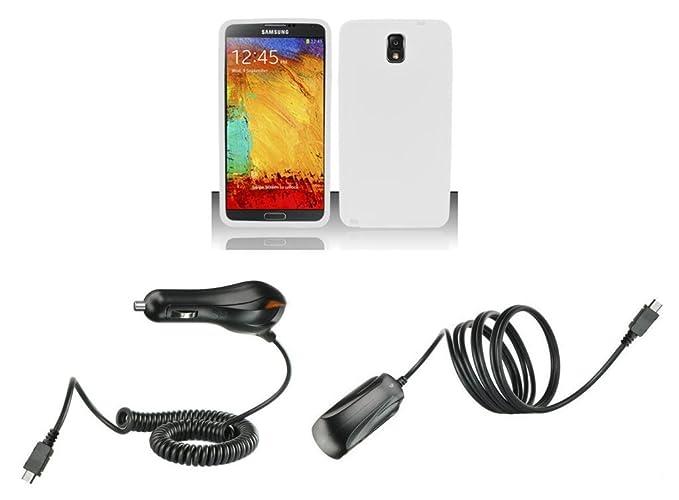 Samsung Galaxy Note 3 - Kit de accesorios - blanco silicona ...