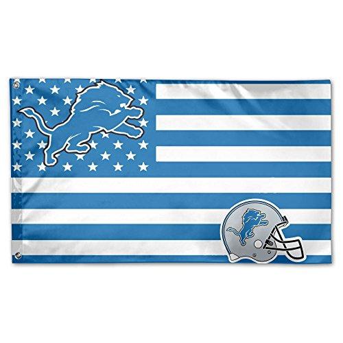 DVJEFB NFL 3x5 FT Stars and Stripes Flag Cheer Banner for Fan ()