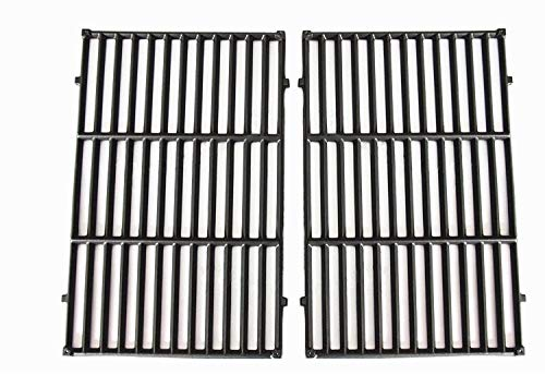 Hongso PCG524 Cast Iron Cooking Grid Grates Replacement for Weber Genesis E-310, E-320, E-330, Genesis S-310, S-320, S-330, Genesis EP-310, EP-320, EP-330 Gas Grills, Set of 2, 7524 307524 40312501 -