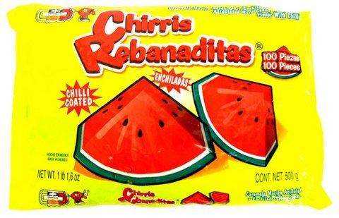 Chirris Rebanaditas (Mexican Watermelon Suckers)