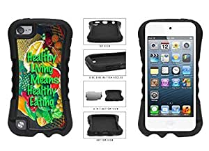 Healthy Living Means Healthy Eating Dual Layer Phone Case Back Cover Diy For SamSung Note 4 Case Cover Generation