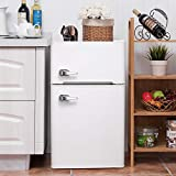 3.2 CU. FT Compact Refrigerator with Handle MIni Fridge Chiller and...