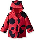 London Fog Little Girls' Toddler Enhanced Radiance Ladybug Rain Slicker, Red, 4T