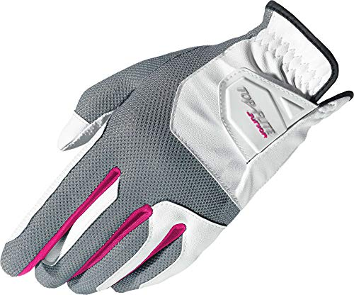 (Top Flite Junior Kids Youth Golf Glove, Universal Fit One Size (Pink (One Size Fits All), Worn on Left Hand(Right-Handed Golfer)))