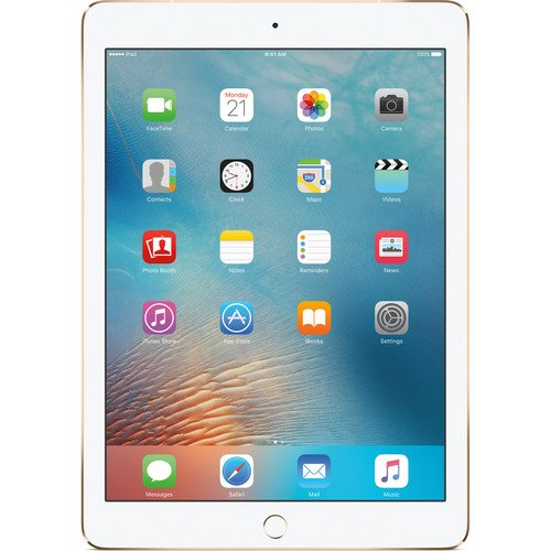 2017 Model Apple iPad 9.7-Inch Retina Display, 128GB, WIFI, Bluetooth, Touch ID, Apple Pay, Siri, GPS Enabled, FaceTime HD Camera, Gold