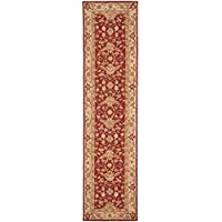Safavieh Chelsea Collection HK751A Hand-Hooked Red and Ivory Premium Wool Runner (26 x 10)