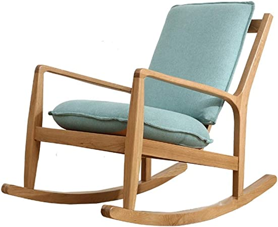 Amazon Com Geqwe Rocking Chair Recliner Chair Rocking Design Recliner Chair Armrests For Living Room Bedroom Office Easy To Assemble Color Blue Size 100x62x87 5cm Furniture Decor