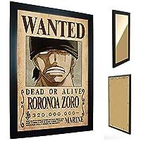 Quadro com Moldura One Piece - Cartaz de Procurado Zoro