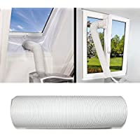 JOYOOO 1.5M Long Intake/Exhaust Hose PVC Flexible Ducting for Portable Air Conditioner Replacement hose/Extend Vent Hose/Clockwise twisting direction(13CM Diameter x 1.5M Long)