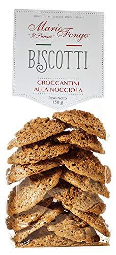 Mario Fongo Italian Biscotti Cookies Croccantini alla Nocciola | Premium Gourmet Italian Chocolate Hazelnut Cookies…