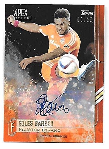 GILES BARNES 2015 Topps Apex MLS Autograph Orange auto /25 Houston -