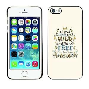 Paccase / SLIM PC / Aliminium Casa Carcasa Funda Case Cover - Wind Free Good Things Blue Wreath - Apple Iphone 5 / 5S