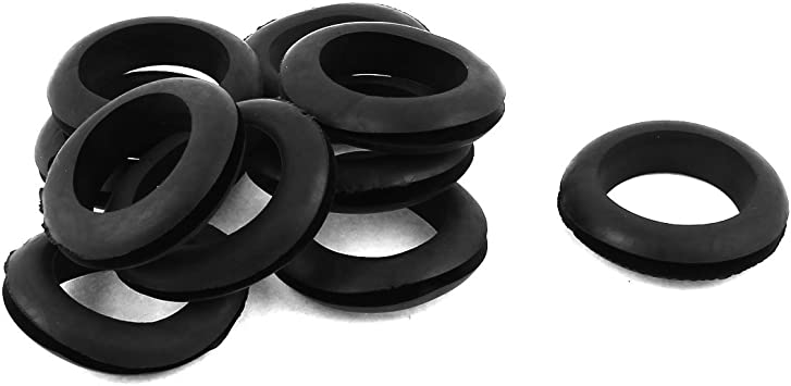 Rubber Grommets Open Hole Wiring Cable Ring Electrical Wire Black