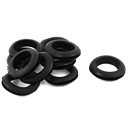 10 Pcs Black Rubber 35mm Open Hole Ring Dual Side Cable: Amazon.co Rubber Wiring Grommets Australia on desk grommets, automotive wiring grommets, large metal grommets, electrical grommets,