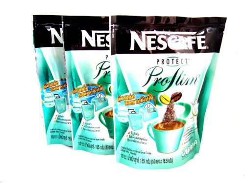 3 X Nescafe Protect Proslim Pro Slim Diet Slimming Weight Control Coffee 10 Sticks Made in Thailand by Nescafé