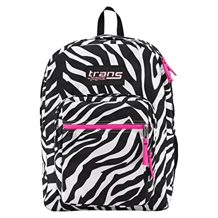 2783e5958b Amazon.com  Trans by Jansport Laptop Sleeve Backpack Zebra Print ...