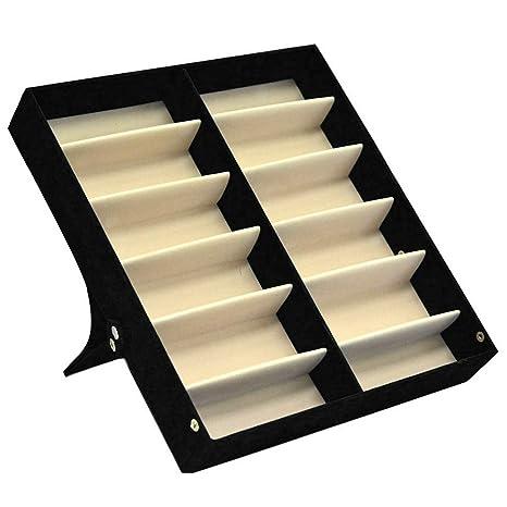 Organizador de anteojos de sol con 12 ranuras, estuche ...