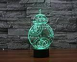 JFL 7 Colors Change Protect 3D Glow LED Lamp, BB-8