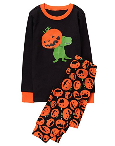 Gymboree Little Boys' 2 Piece Cotton Tight-Fit Pajamas, Pumpkin Dino, 6